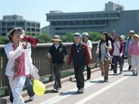 景観も素晴らしい 岡山城周辺を一周するコースです