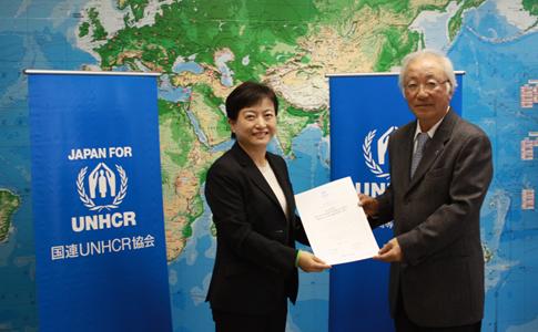 国連UNHCR協会から感謝状をいただきました。